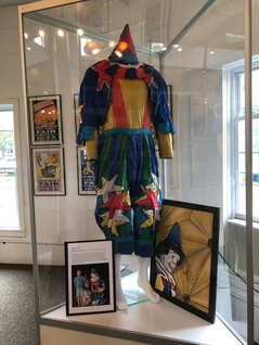 "In 2018, Gary Girouard donated one of his legendary ""Gary the Silent Clown"" costumes to the Erie County Fair's collection"