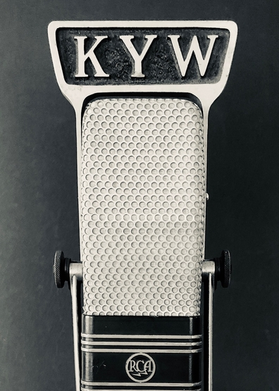 "KYW: Group W's (Westinghouse Broadcasting's) famous set of ""traveling call letters"". KYW was founded in Chicago in 1922, calls moved to Philadelphia in 1934, transferred to Cleveland in 1956. Returned to Philly in 1965 where the calls currently reside."